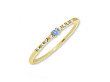 Zlatý prsten se zirkony  Klara