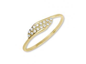 Zlatý  prsten se zirkonem Mája
