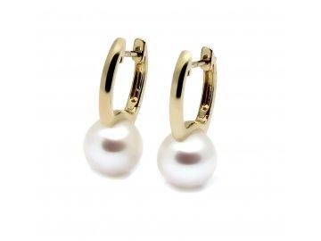 Perlové visací náušnice s perlou 10mm