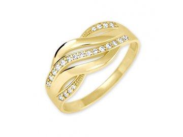 Zlatý prsten se zirkony Ilza