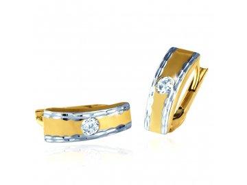 Zlaté náušnice s kamínkem