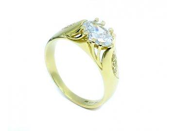 Zlatý prsten se zirkony Lara