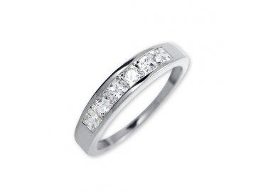 Prsten z bílého zlata a  zirkony