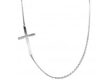 Zlatý náhrdelník s křížkem bílé zlato