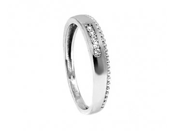 Zlatý prsten z bílého zlata hladký