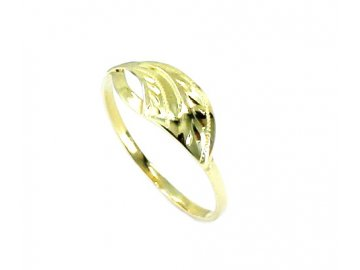 Zlatý prsten s rytinou Barbora