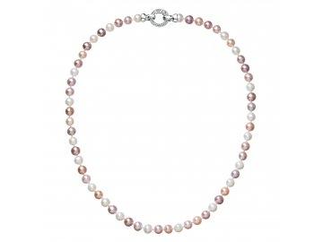 Perlový náhrdelník z pravých říčních perel mix barev 22004.3