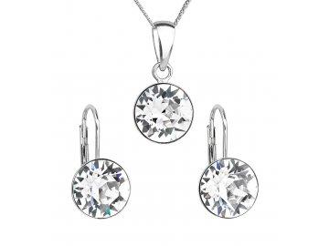Sada šperků s krystaly Swarovski náušnice a přívěsek