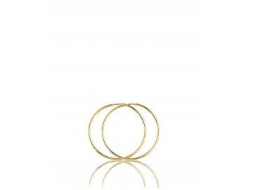 Náušnice zlaté kruhy 10mm