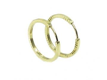 Náušnice zlaté kruhy 15mm