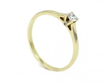 Diamantový prsten 0,17ct