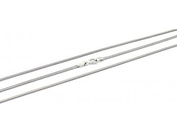 Stříbrný pletený řetízek 45-55cm