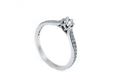 Diamantový prsten 0,206ct