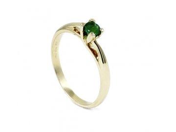 Prsten se smaragdem 0.18ct