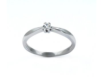 Diamantový prsten bílé zlato 0,085ct