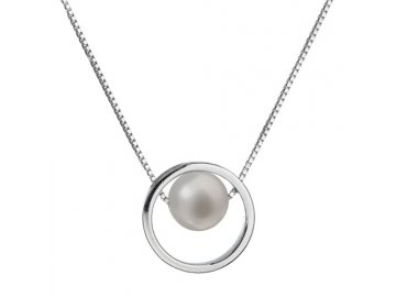 Perlový náhrdelník z pravých říčních perel bílý 22025.1