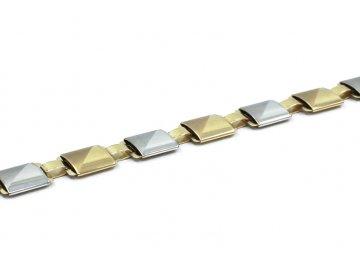 Zlatý elegantní náramek kostka 21cm