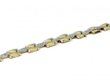 Zlatý náramek článkový 19cm