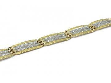 Zlatý náramek elegantní článkový 20cm