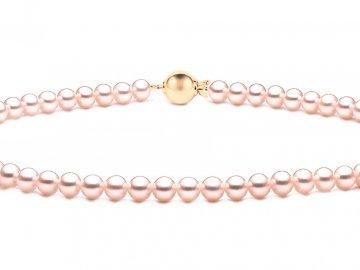 Perlový náhrdelník v pudrovém tónu pravých perel