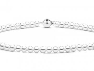 Perlový náhrdelník bílé pravé perly
