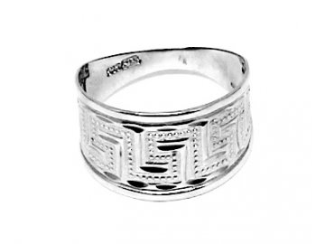 Zlatý prsten z bílého zlata se zirkony Thea