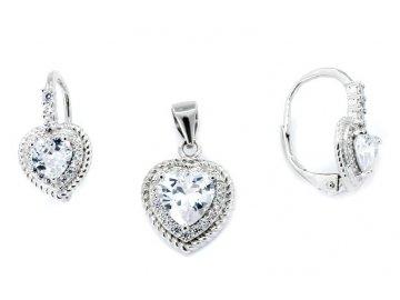 Souprava šperků srdce