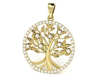 Zlatý přívěsek strom života 30mm