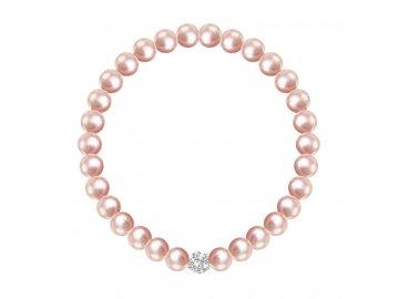 2219 69 perlovy naramek ruzovy preciosa silvertime