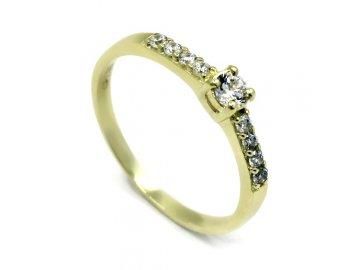 Zlatý prsten se zirkony 321