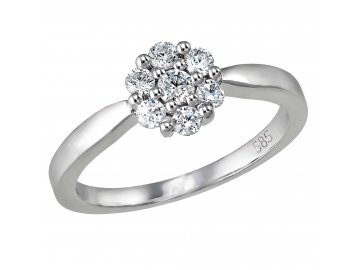 Diamantový prsten bílé zlato 0,275ct