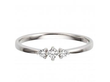 Zlatý prsten s diamantem 0,14ct