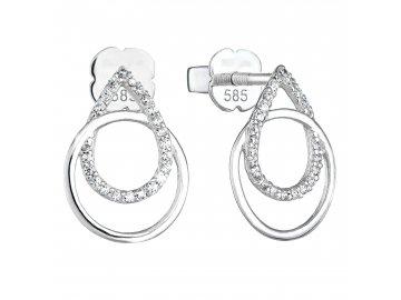 Zlaté diamantové náušnice 81003.1