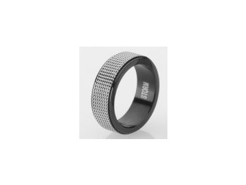 Ocelový prsten Storm Mesh Ring Black