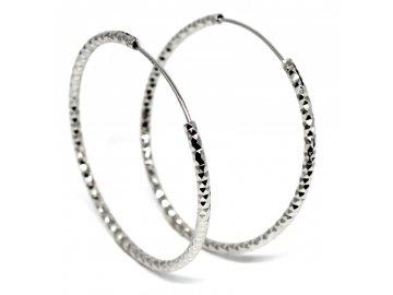 Stříbrné náušnice kruhy 4cm