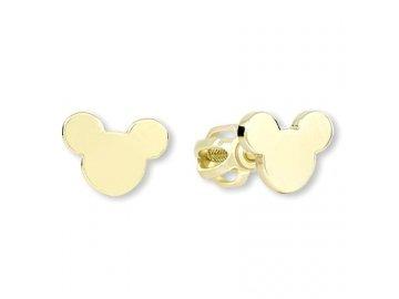 Zlaté náušnice Mickey