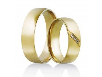 Zlate Snubni Prsteny Ze Zluteho Zlata Siroka Nabidka Prstenu Skladem
