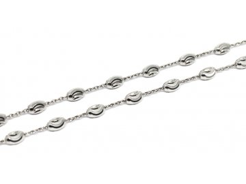 Stříbrný řetízek oválkový 42/45/50cm