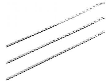Řetízek z bílého zlata destičkový 42/45cm  42 cm