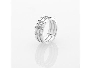 Ocelový prsten Storm Zella Ring Silver
