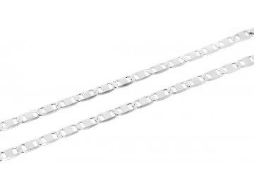 Stříbrný řetízek destičkový 50cm