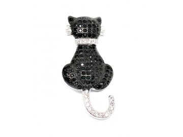 Stříbrný přívěšek kočka se zirkony