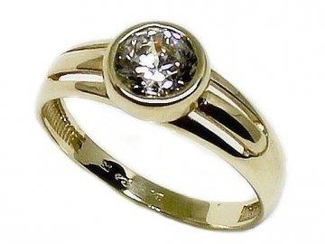 Zlatý prsten se zirkonem Gina