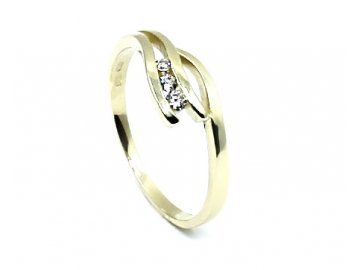 Zlatý prsten se zirkony Jana