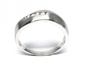 Diamantový prsten bílé zlato