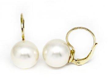 Perlové náušnice mořská perla