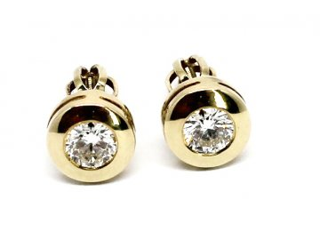 Diamantové náušnice pecky 0,50ct
