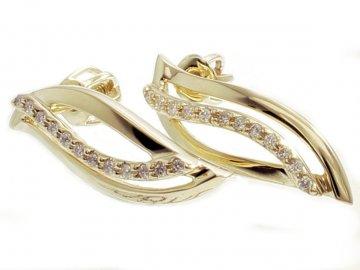 Alo luxusní diamantové náušnice šroubek