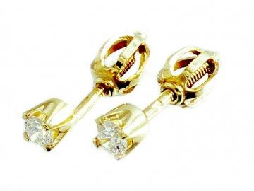 Diamantové náušnice šroubek