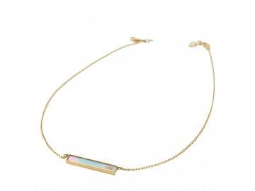 Ocelový náhrdelník Storm Silica Necklace Gold Ice